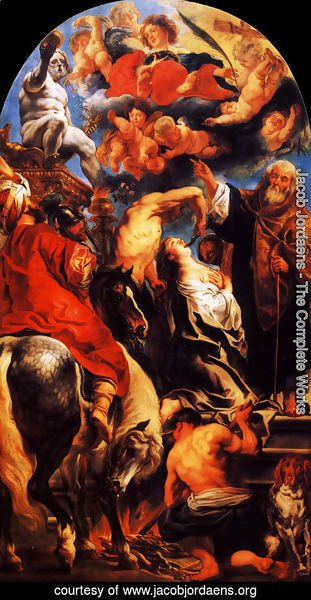 Jacob Jordaens - The Martyrdom of St. Apollonia