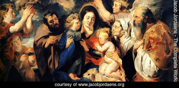 The Holy Family and child St. John the Baptist