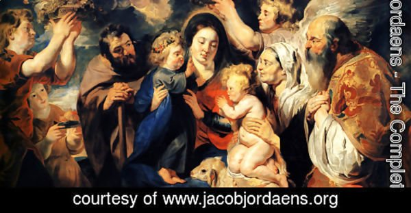 Jacob Jordaens - The Holy Family and child St. John the Baptist