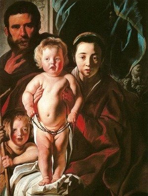 Jacob Jordaens - Holy Family and Saint John the Baptist