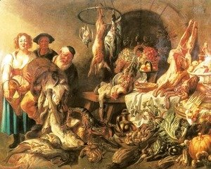 Jacob Jordaens - Still Life with a Fish Salesman
