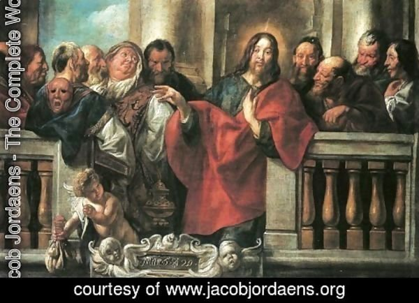Jacob Jordaens - Jesus and the Pharisees